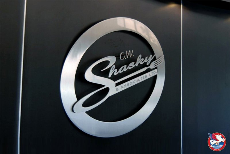 C.W. Shasky reception signage