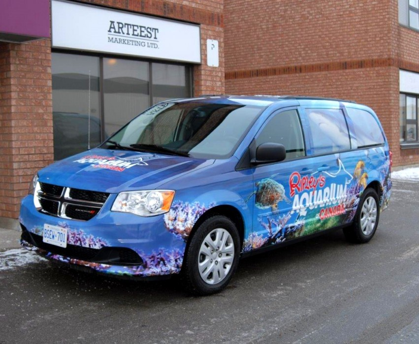 Full coverage vehicle wrap for Ripley's Aquarium of Canada
