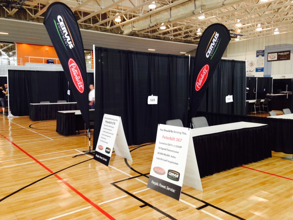 Teardrop banners are a great choice for your next trade show booth.