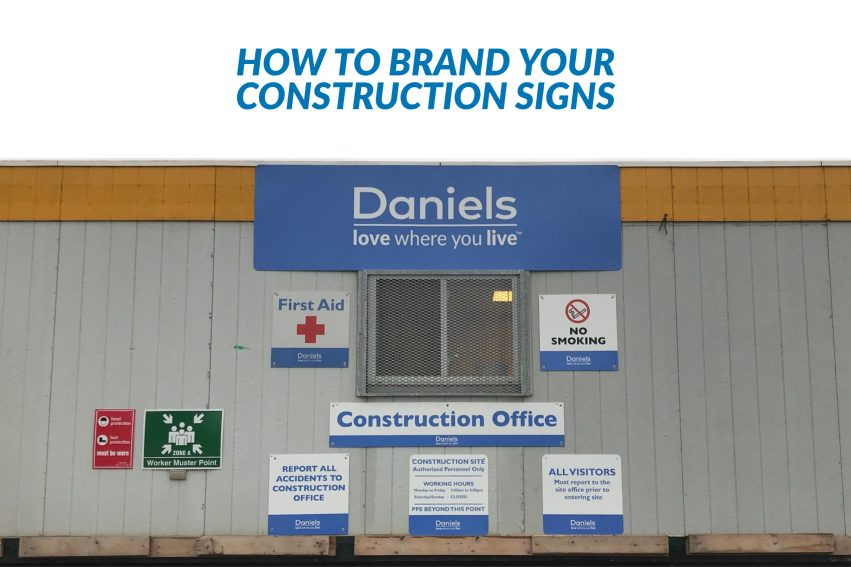 How to brand construction signs
