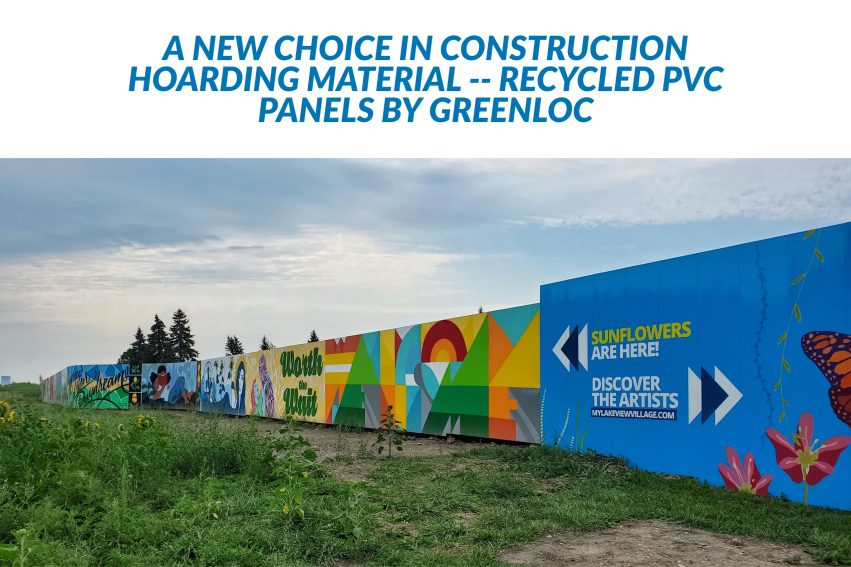 Recycled PVC Hoarding
